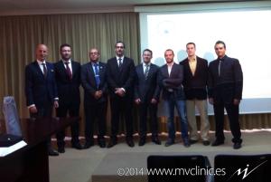 Francisco Minaya junto a sus directores de tesis, el Dr. Francesc Medina y el Dr. Fermín Valera, y junto a los miembros del Tribunal
