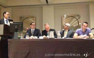 En la mesa de ponentes, de izquierda a derecha: Francisco Minaya, Claudio Couto, Jay Shah y Alejandro Elorriaga