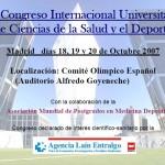 III Congreso Internacional Universitario de las Ciencias de la Salud y del Deporte